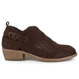 Brown Microsuede Cutout Bootie New in Box